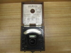 General Electric 3229284 Vintage Industrial A c Volt Meter Antique