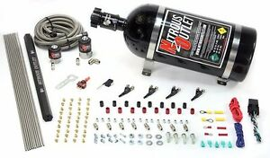 Nitrous Outlet 4 Cylinder 2 Solenoid Direct Port System With Distribution Blocks