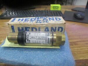 Hedland Part Number 605005 Direct Reading In line Flow Meter 3000 Psi Max