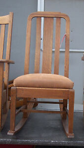 Quartersawn Oak Mission Sewing Rocker Rocking Chair R33