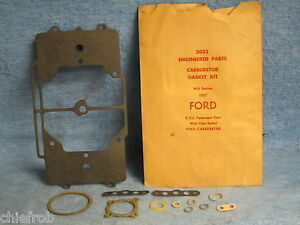 1957 Ford Pass Nors Carburetor Gasket Kit V8 4bbl Ford Carburetor