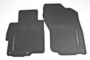 2008 2012 Genuine Mitsubishi Lancer All Weather Rubber Floormats Mats Mz314505