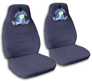 Cute Set Eeyore Front Car Seat Covers Blue Gray More Colors Rear Bench Avbl
