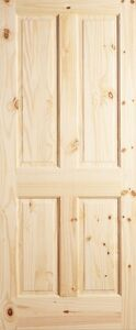 4 Panel Raised Knotty Pine Stain Grade Solid Core Rustic Wood Interior Doors New