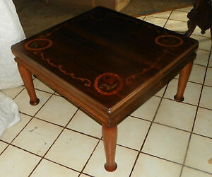 Mahogany Satinwood Mid Century Rosewood Inlaid Coffee Table Ct11