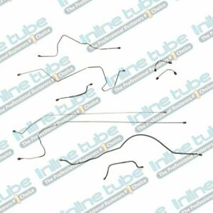 Fits 1988 1990 Jeep Cherokee Xj Power Brake Line Set Kit Tubes Stainless Steel