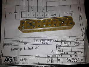 Agie Wire Edm Contact Block Pn 643 584 6 new
