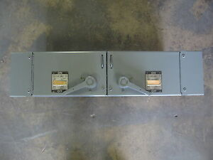 Westinghouse Fusible Panelboard Switch 60 Amp 30 Amp 240v 3 Pole Fdpt3212