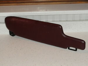 Used Original Porsche 928 Drivers Side Maroon Leather Sun Visor With Mirror