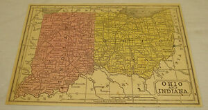 1850 Color Map Of Oh In B W Ky Tn Mitchell