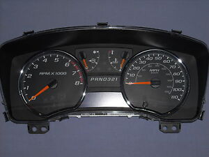 08 12 Chevy Colorado Complete Instrument Cluster For Automatic Transmission Only