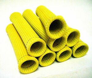 Yellow Heat Protector Sleeve Spark Plug Wire Boots 8 Cyl Made In Usa
