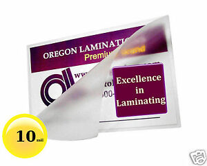 200 Pc Badge Id Card Hot 10 Mil Laminating Pouches 2 9 16 X 3 3 4 Clear