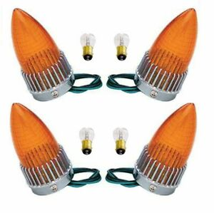 1959 Cadillac 59 Caddy Taillight Turn Signal Lamp Amber Lens Bulbs Assemblies