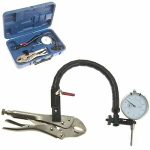 Dial Indicator 0 1 Flex Arm Grip Clamp Vise Plier Base Set