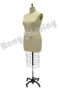 Female Professional Pro Half Body Dress Form Mannequin Size 22 W hip