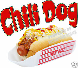 Chili Dog Hot Dog Decal 14 Concession Food Truck Van Stand Cart Vinyl Sticker