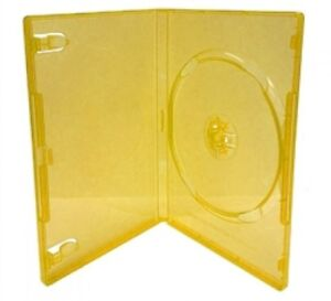 100 Standard Clear Orange Color Single Dvd Cases
