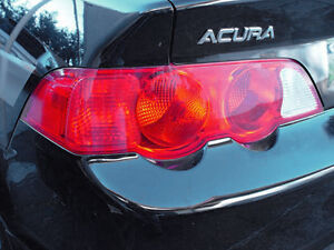 02 04 Acura Rsx Tail Light Signal Precut Redout Tint Cover Red Overlays