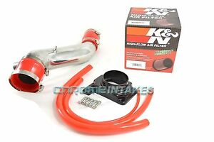 95 96 97 98 99 Mitsubishi Eclipse Gst gsx spyder 2 0l Turbo Air Intake k n red