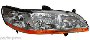 New Replacement Headlight Assembly Rh For 2001 02 Honda Accord