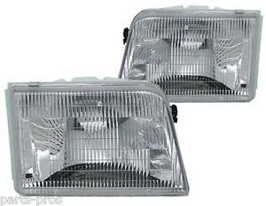 New Replacement Headlight Assembly Pair For 1993 97 Ford Ranger