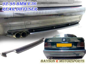 M3 Style Rear Bumper Diffuser Abs Fits 91 99 Bmw E36 3 Series Won T Fit M3