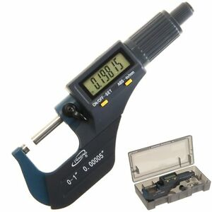 Igaging Digital Electronic Micrometer Outside 0 1 0 00005 X large Lcd Carbide