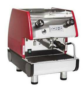 La Pavoni Commercial Espresso Machine Maker Pub 1v r Red 1 Group Volumetric
