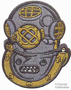 Scuba Diving Mark V Navy Helmet Patch Embroidered New Iron On Mk 5 Applique Gift