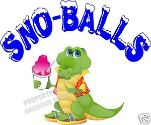 Sno balls Decal 14 Shaved Ice Snow Cones Concession Trailer Cart Vinyl Sticker