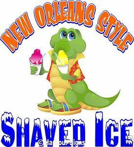 Shaved Ice Decal 24 New Orleans Style Concession Cart Food Truck Vinyl