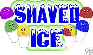 Shaved Ice Decal 36 Shave Ice Snow Cones Concession Cart Food Truck Vinyl