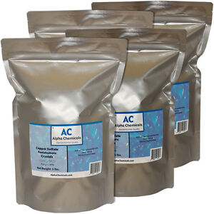 20 Pounds Copper Sulfate Pentahydrate Crystals 99 Pure