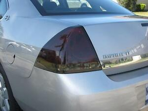 2006 2013 Chevrolet Impala Smoke Tail Light Precut Tint Cover Smoked Overlays