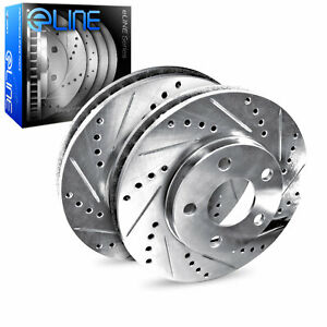 Brake Rotors Rear Eline Drilled Slotted Ford Mustang 1994 2004 Cobra