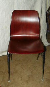 Retro Mahogany Plywood Desk Chair Sidechair Sc215