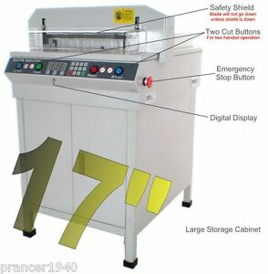 New Original Guillotine Ec17 Electric Heavy Duty Stack Paper Cutter