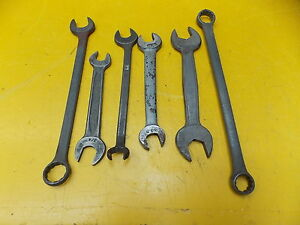 Vintage Used Wrench 6pcs Vlchek Barcalo Armstrong Williams Superwrench L14