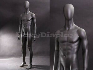 Fiberglass Male Mannequin Dress Form Clothing Egg Head Display mz ae05