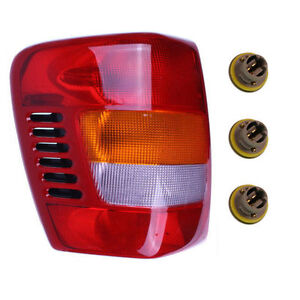New Left Tail Light Assembly With Sockets Bulbs Fits 99 04 Jeep Grand Cherokee