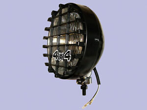 100w Spotlights driving Lamps With Stone Guards For 4x4 s Land Rover Etc Da4088