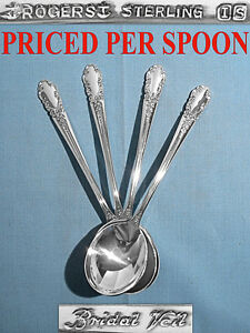 International Sterling Cream Soup Spoon S Bridal Veil No Mono