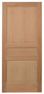 3 Panel Raised Panels Red Oak Stain Grade Solid Core Interior Wood Doors New