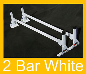 Cube Box Truck Enclosed Trailer 2pc White Top Mount Ladder Rack 63 66 High