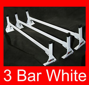 Cube Box Truck Enclosed Trailer 3pc White Top Mount Ladder Rack 72 75 High