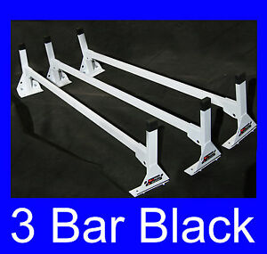 Cube box Truck Enclosed Trailer 3pc Black Top Mount Ladder Rack 96 99 High