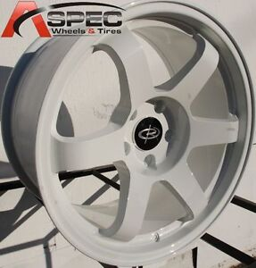 17x9 Rota Grid Wheels 5x100 White Rims 35mm Fits Toyota Matrix 2003 2008