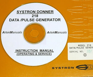Systron donner 218 Data Pulse Generator Operating Service Manual