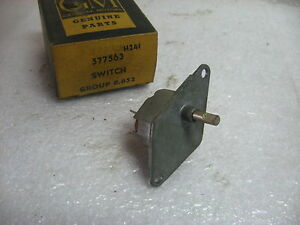 1960 Oldsmobile Heater Blower Switch For Standard Heater Gm 577563 Nos